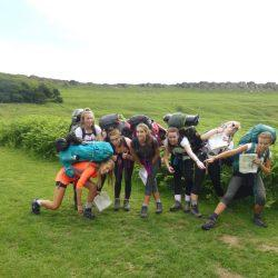 DofE - Silver Peak District, Ladies College, female group, silly faces